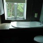 1st room - bath tub with street view ;)