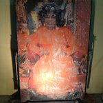 Vibhuti that manifested from this picture is there at the temple