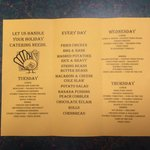 Updated menu 10/29/14