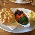 Delicious chicken pie and creamy mash!