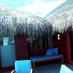 View of our Overwater suite's deck
