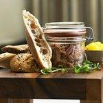 Ham hock, piccalilli with crusty bread