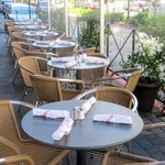 Patio Seating - Pizza Antica - Santana Row - San Jose, Ca