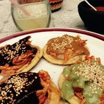 sopes with three different moles