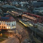 View from Room - Vaihingen train station