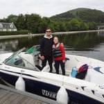 Loch Lomond Leisure boat and our guide, Richard