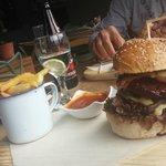 Looks better than it tastes. The hamburger.