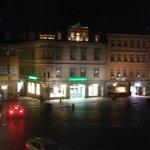 Marktplatz in der Nacht von meinem Fenster