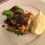 Salmon with herb crust