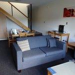 very comfy lounge area