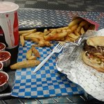 Big boy burger combo with sml pop n sml or med heaping fry... i recommend this combo..