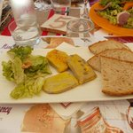 Trio de foie-gras, délicieux :)