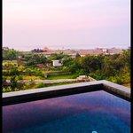 The penthouse balcony dip pool