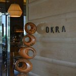 entrance of Okra restaurant