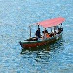 View of Lake Peten Itza. (a lancha)