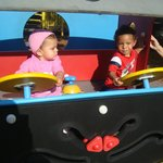 Driving the firetruck!