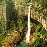 the amazing nohkalikai falls