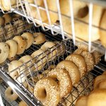Freshly baked bagels daily.