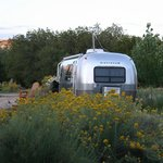 One of the Airstream trailers they rent