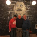 The Three Musketeers meet Stalin having escaped!!