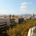 Las Ramblas from Citadines Roof Deck 2