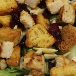 Raspberry Chicken Salad- grilled chicken, red onions, craisens, almonds,