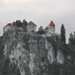 Bled castle from hotel balcony