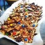 Rocky Road with mars bars & m&m's.