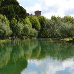 El lago todo el año caliente por el agua termal