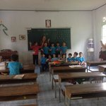 The children at orphanage sing for us