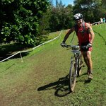 Coming in from the grueling bike at the Xterra World Championship in Kapalua.