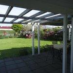 The beautiful garden at Skibo B&B