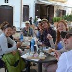 Our group enjoying their gelato degustazione - happy faces all around!