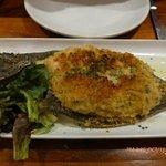 Whole stuffed flounder