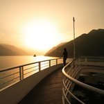Sunset of the Yangtze Three Gorges