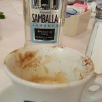 Cappuccino and Italian Sambuca