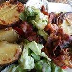 Pomme de terre et camembert rôti