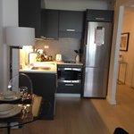 Modern kitchen, coffee maker, etc...