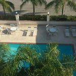the swimming pool (5fth floor view)