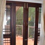 Metalwork on windows to stop monkeys getting in