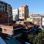Вид с крыши на район