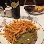 Standard fillet with chips at Le Relais de Venice