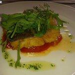 Taco de bacalao a la andaluza con mermelada de tomate y toque de canela