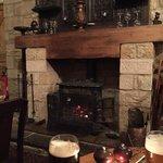 The beautiful fireplace