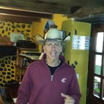 Owner Peter (Hang Em High) Fox and his awesome cowboy hat.