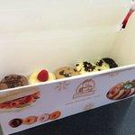 mini-cheesecakes box