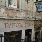 Entrance to Trattoria Alla Rivetta in Venice near San Marco