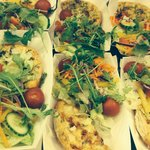Quiches & fresh crunchy salad , eat out or dine in