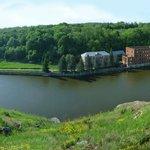 Заповедник Галичья Гора, участок Воронов камень, старая плотина с мельницей на реке Воргол