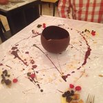 Yummy pudding in the Italian restaurant ❤️